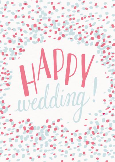 Happy Wedding Confetti   Personalised Congratulations Card