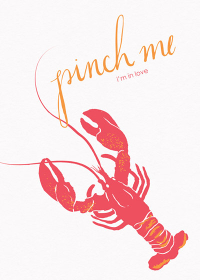 Lobster | Personalised Greeting Card