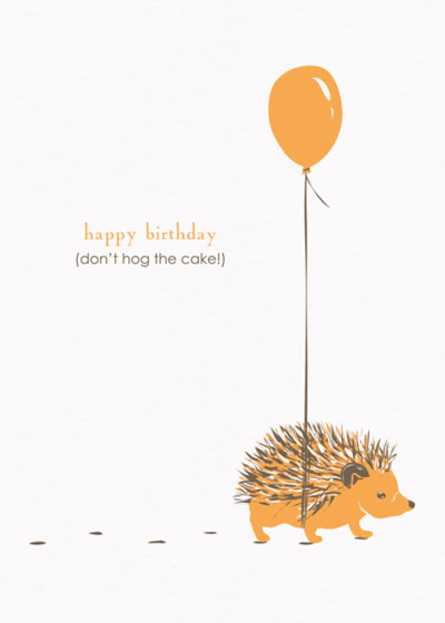 Hedgehog | Personalised Birthday Card