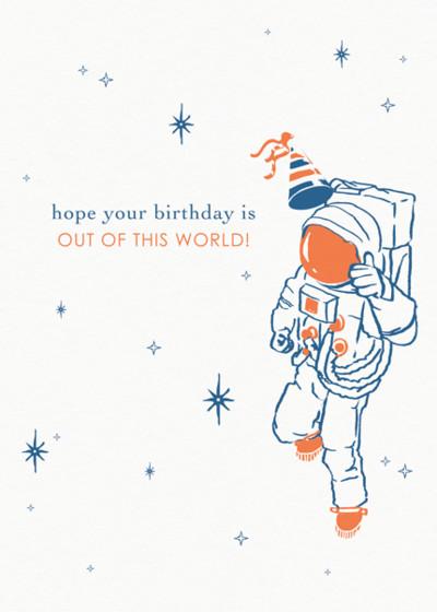 Astronaut   Personalised Birthday Card