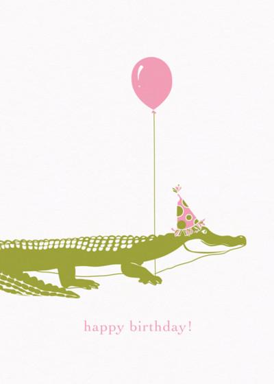 Alligator   Personalised Birthday Card