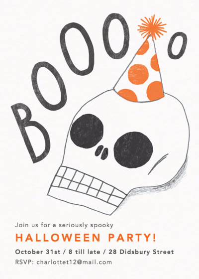 Halloween Skull | Personalised Party Invitation