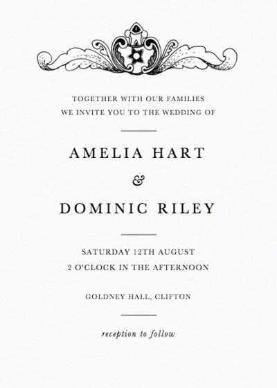 Oak Scroll | Personalised Wedding Invitation