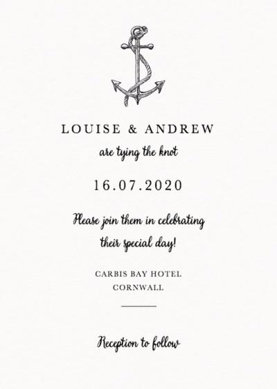 Set Sail | Personalised Wedding Invitation