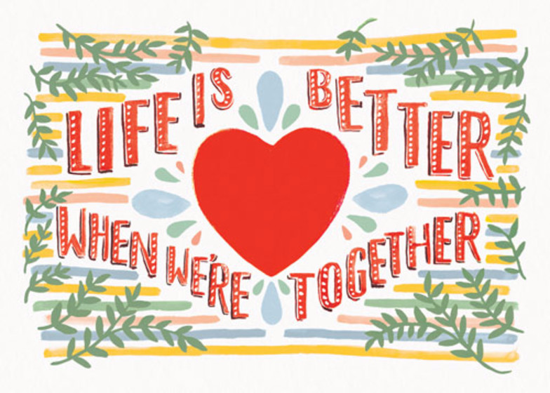 We're Better Together | Personalised Greeting Card