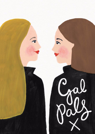 Gal Pals | Personalised Greeting Card