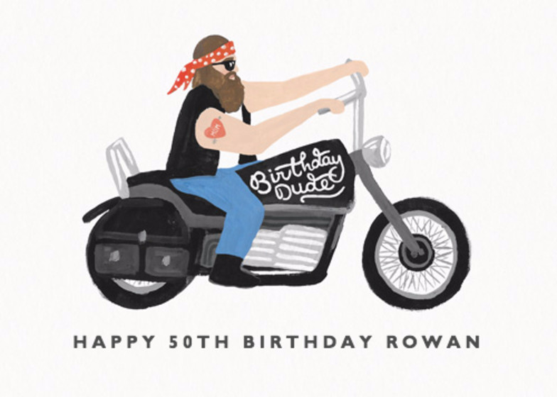 Birthday Dude | Personalised Birthday Card