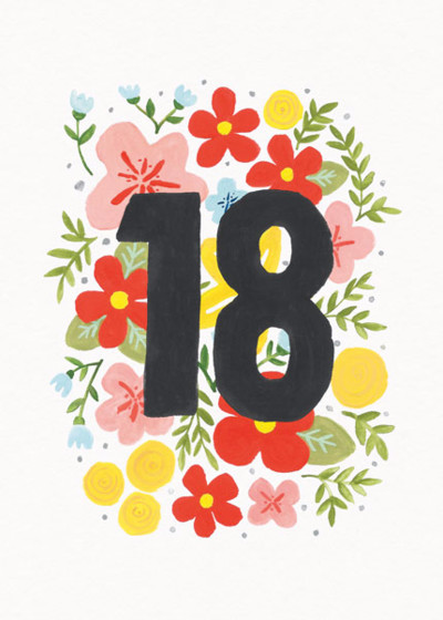Floral 18th | Personalised Birthday Card