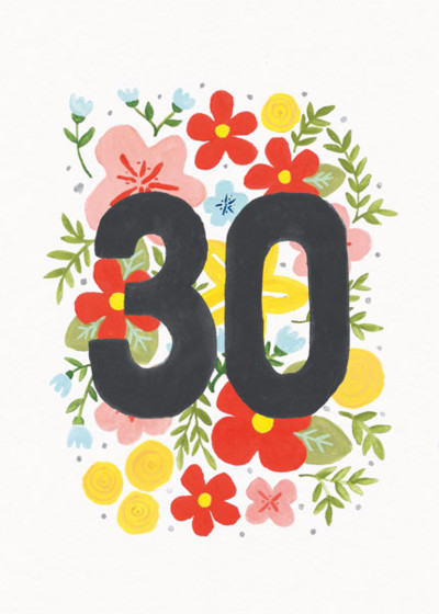 Floral 30th | Personalised Birthday Card