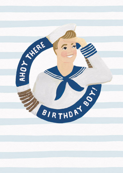 Ahoy There Birthday Boy | Personalised Birthday Card