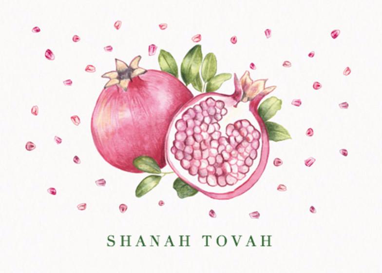 Pomegranate   Personalised Card Set