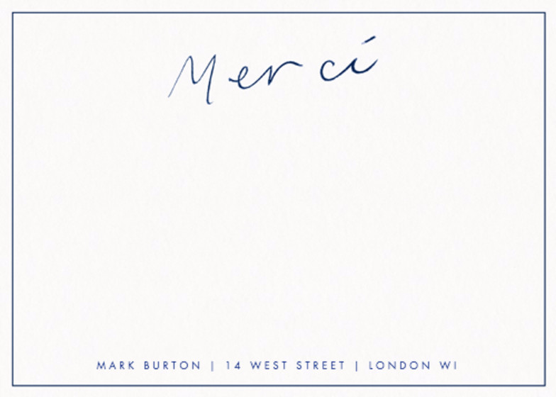 Merci Navy | Personalised Stationery Set