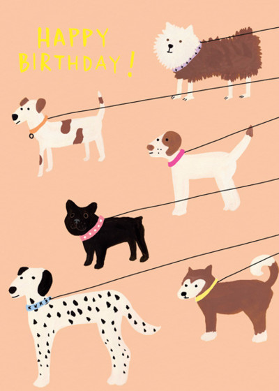Out for A Walk | Personalised Birthday Card