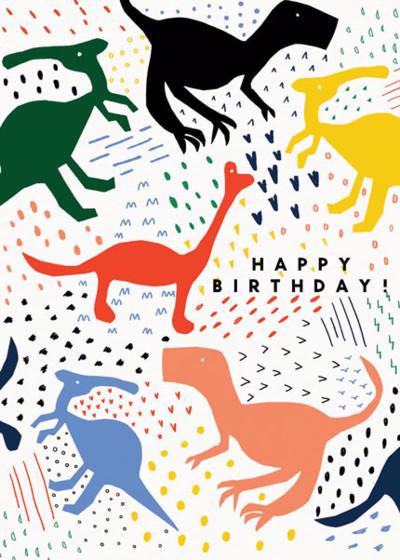 Dinorama | Personalised Birthday Card