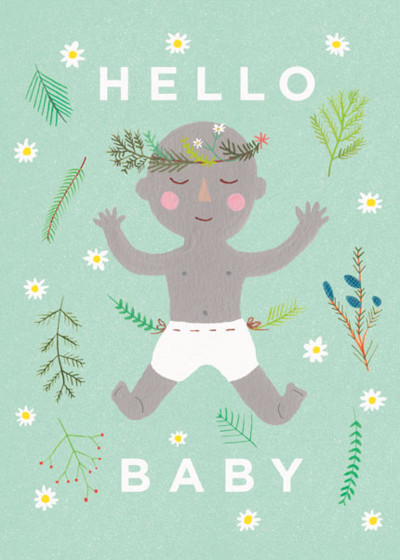 Earth Baby | Personalised Congratulations Card