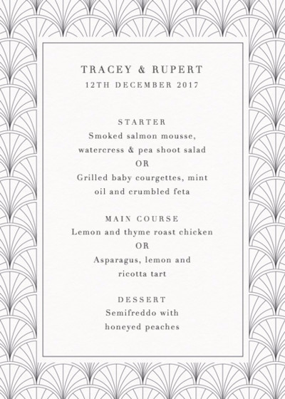 Art Deco | Personalised Menu