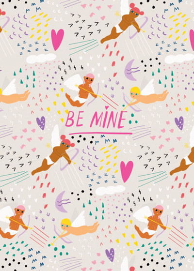 Be Mine   Personalised Greeting Card