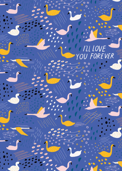 Swans | Personalised Greeting Card
