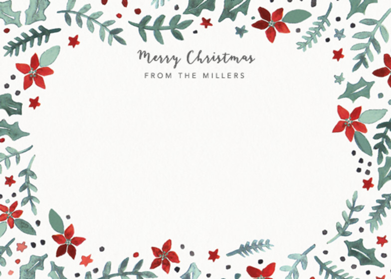 Poinsettia Scatter | Personalised Stationery Set