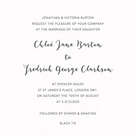 Modern Script | Personalised Wedding Invitation
