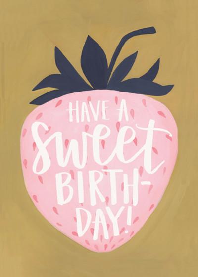 Sweet Birthday | Personalised Birthday Card