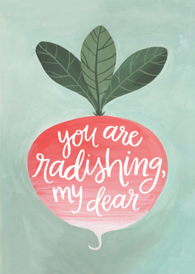Radish | Personalised Greeting Card
