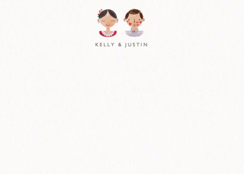 Couple Kisses | Personalised Stationery Set