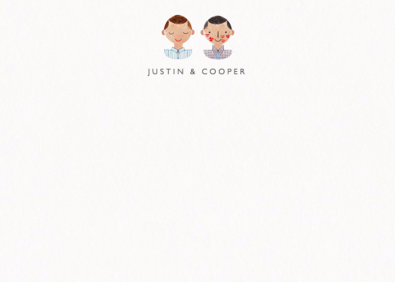 Couple Kisses Mr & Mr | Personalised Stationery Set