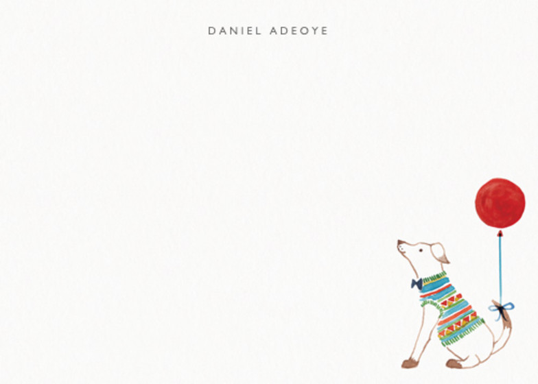 A Dog And His Balloon | Personalised Stationery Set