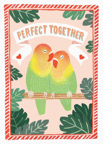Parrots | Personalised Greeting Card