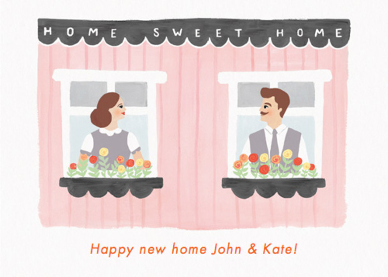 Home Sweet Home | Personalised Greeting Card