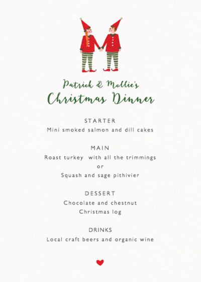 Two Elves | Personalised Menu