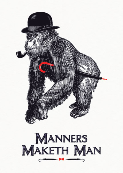 Manners Maketh Man | Personalised Birthday Card
