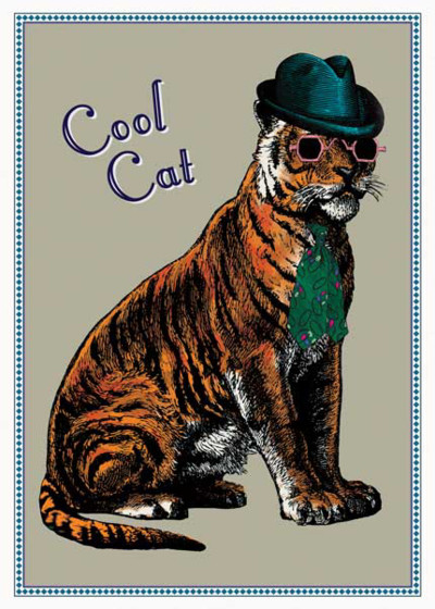 Cool Cat | Personalised Birthday Card