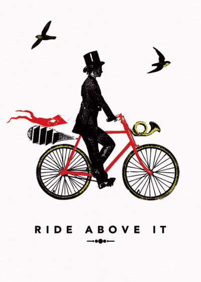 Ride Above It   Personalised Greeting Card