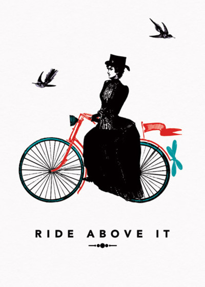 The Lady Rides | Personalised Greeting Card