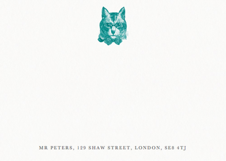 Sophisticated Cat | Personalised Stationery Set