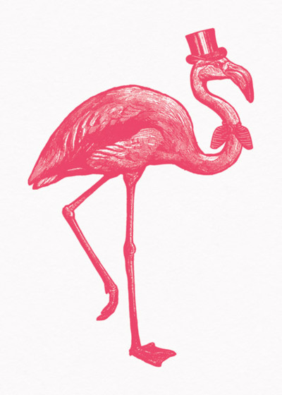 Sophisticated Flamingo | Personalised Birthday Card