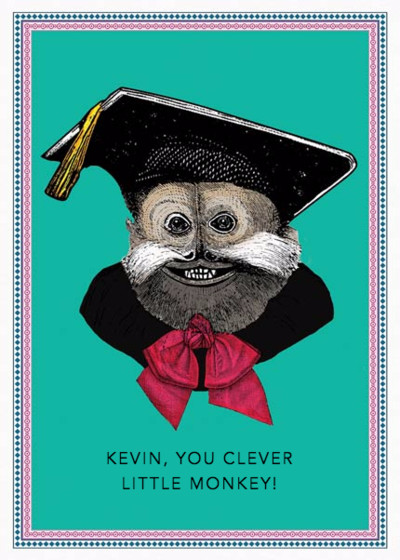Clever Little Monkey | Personalised Congratulations Card