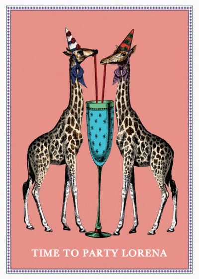 Party Giraffes | Personalised Birthday Card