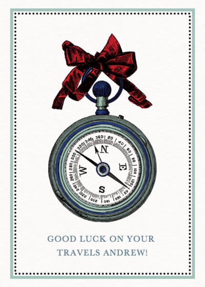 Live Adventurously  | Personalised Good Luck Card