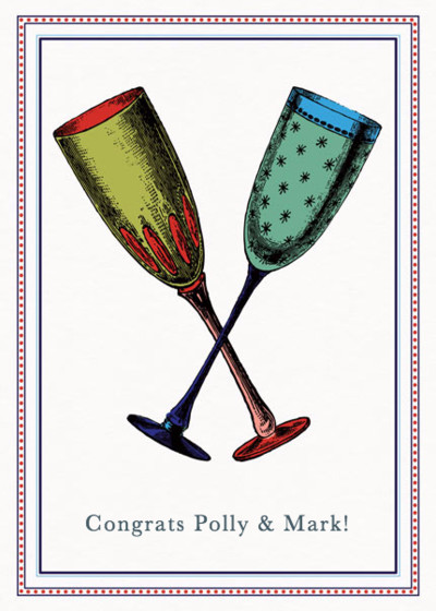 Champagne Flutes | Personalised Congratulations Card