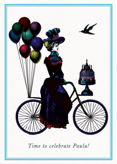 Party Cyclist  | Personalised Birthday Card