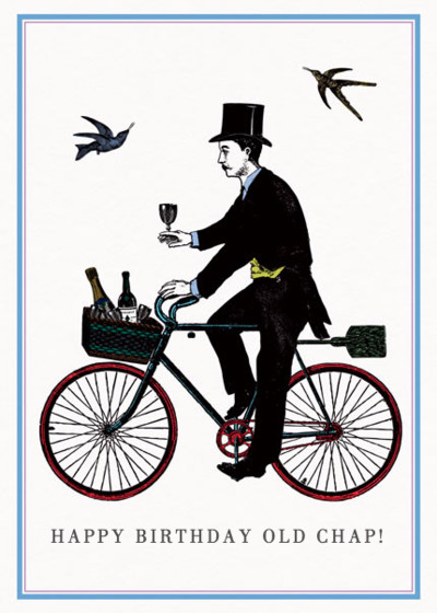 Champagne Cyclist  | Personalised Birthday Card