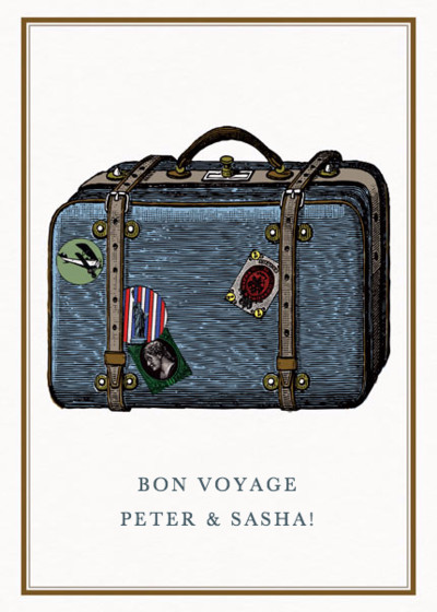Bon Voyage Suitcase | Personalised Good Luck Card