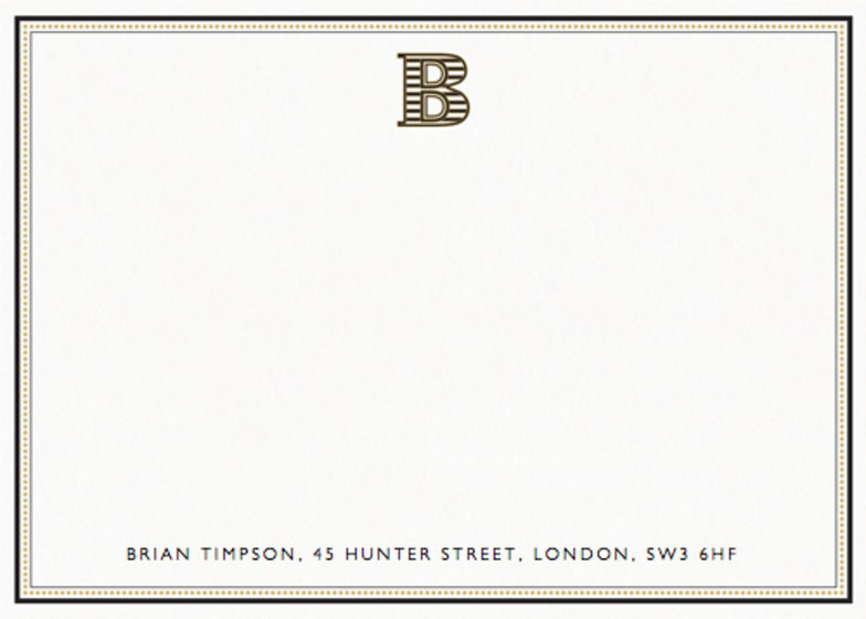 Monogram B | Personalised Stationery Set