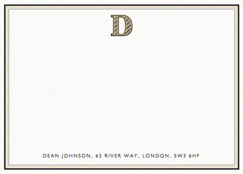 Monogram D | Personalised Stationery Set
