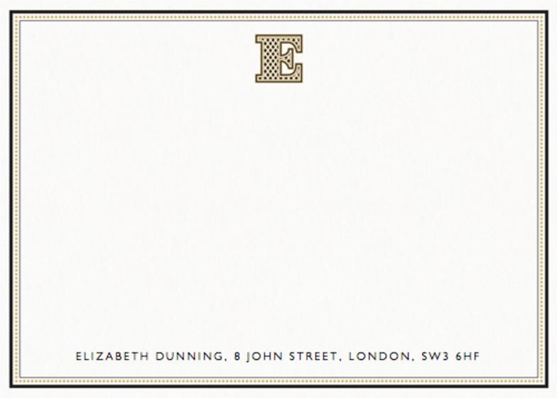Monogram E | Personalised Stationery Set