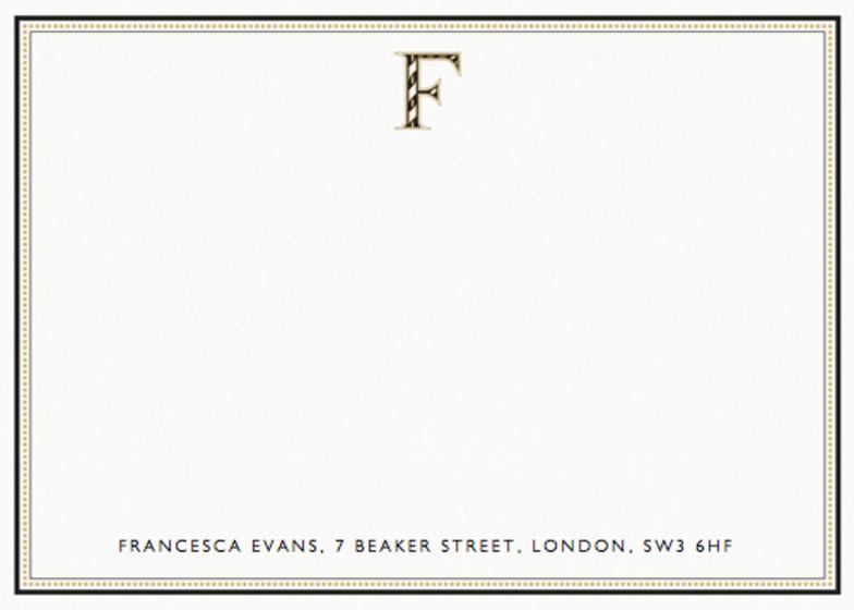 Monogram F | Personalised Stationery Set