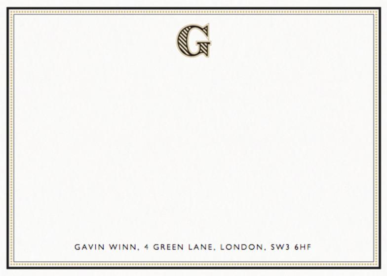 Monogram G | Personalised Stationery Set